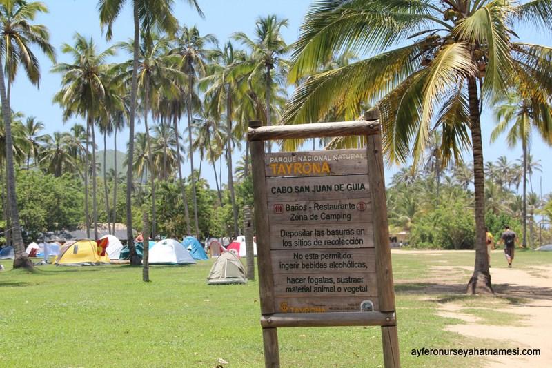 Cabo San Juan kamp alanı