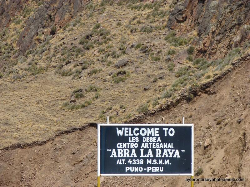 Cusco ve Puno arasındaki coğrafi sınır olan La Raya, deniz seviyesinden en yüksek noktası