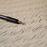 Old english calligraphy.