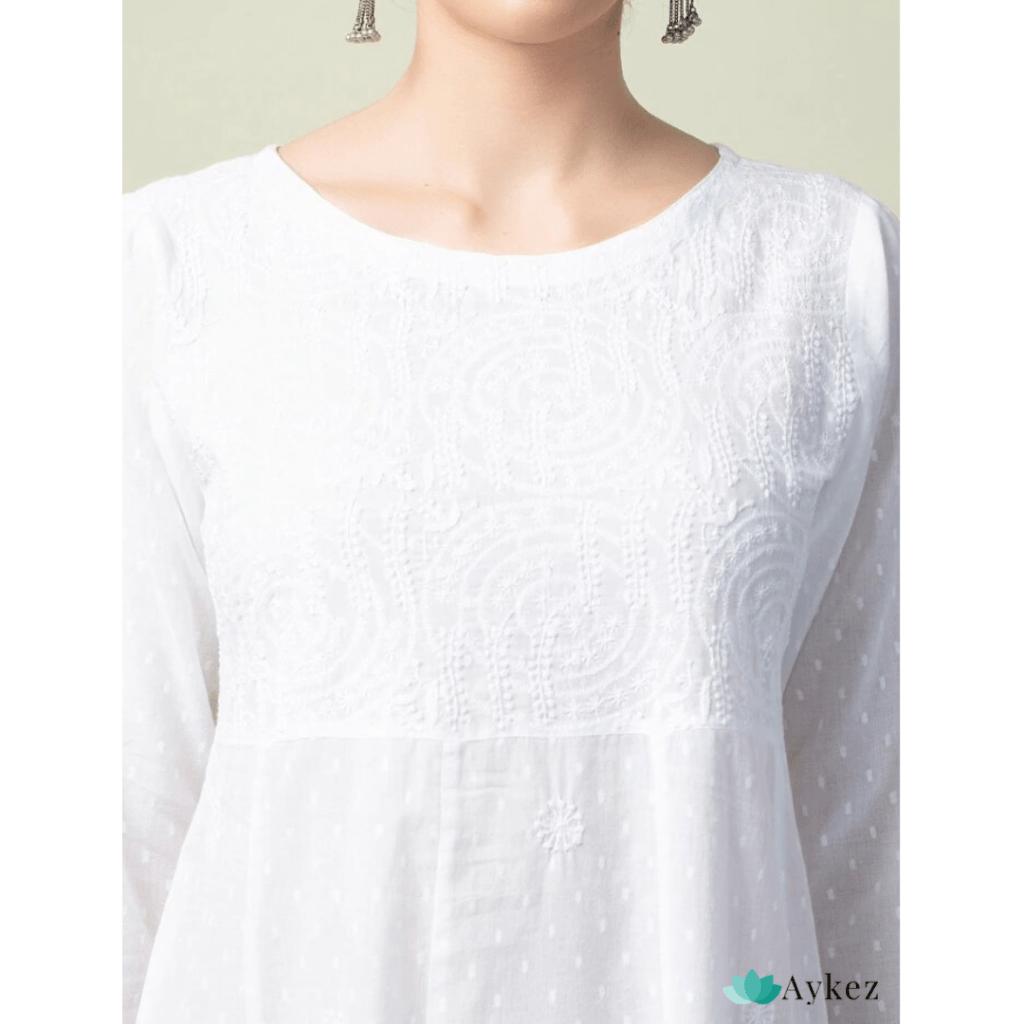 White Cotton Chikankari