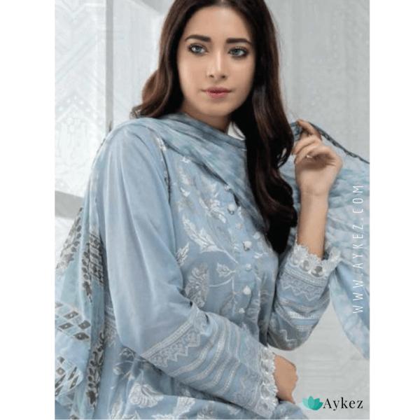 Lucknowi Chikankari Suit Fabric