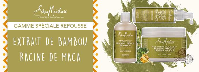 shea moisture extrait de bambou et racine de maca