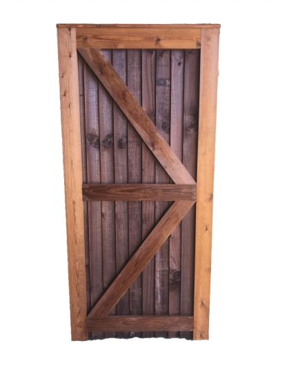 Closeboard Gate Brown Back