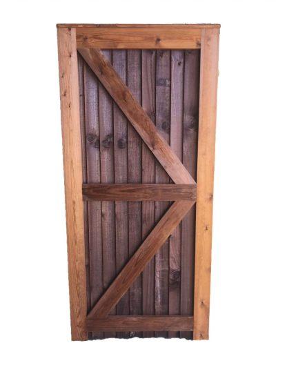 Closeboard Gate Brown Back