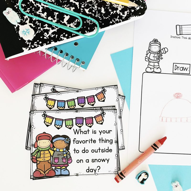 Think Draw Write Prompt Cards