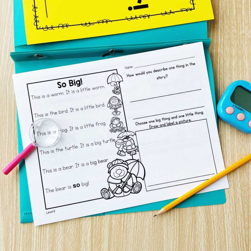 spring guided reading