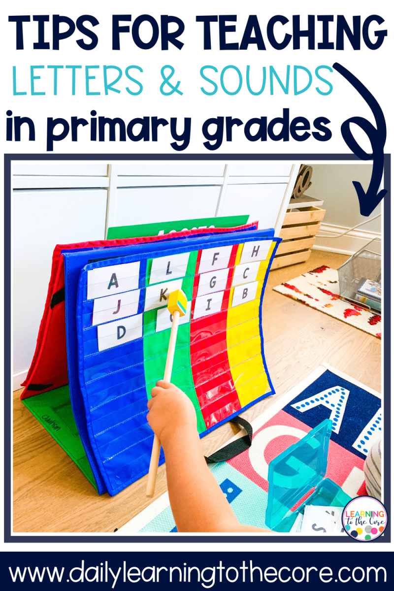 tips for teaching letters