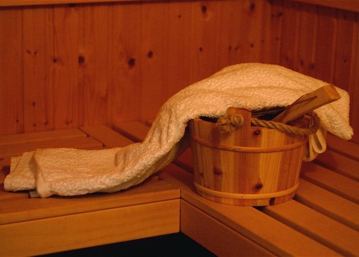 Sauna emmertje water handdoek