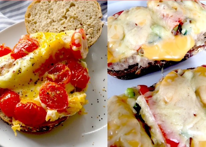 Broodje ei tomaat gesmolten kaas tuna melt