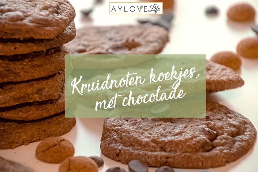 kruidnoten koekjes met chocolade