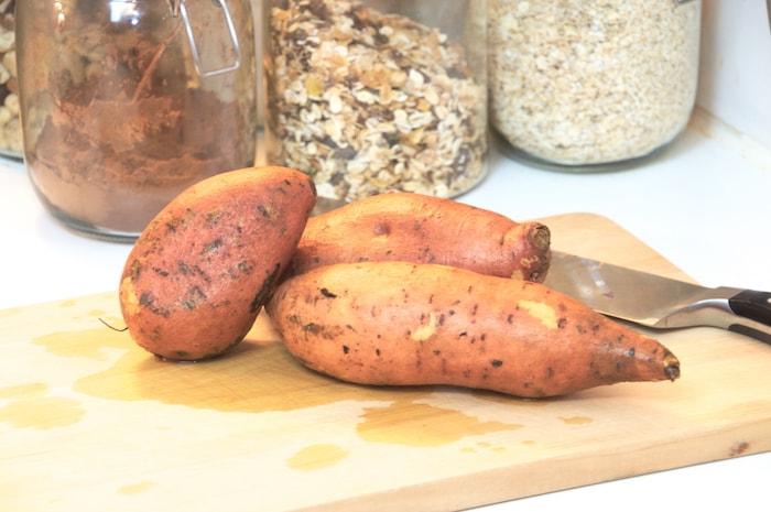 Zoete aardappel-toastjes - aardappels