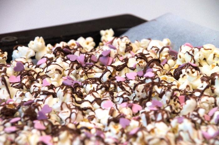 Romantische Valentijnsdag - popcorn