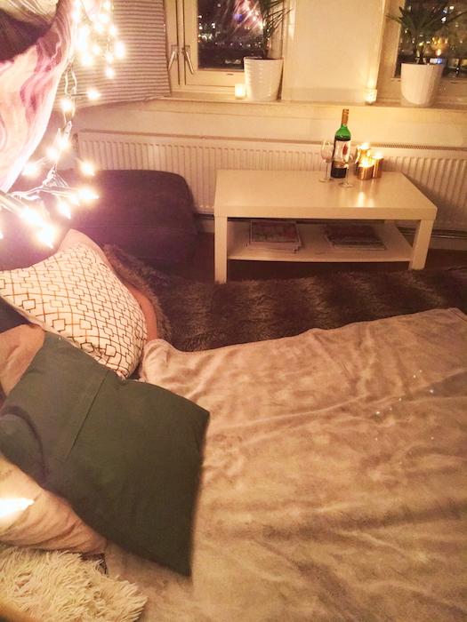 Romantische Valentijnsdag - fort by night