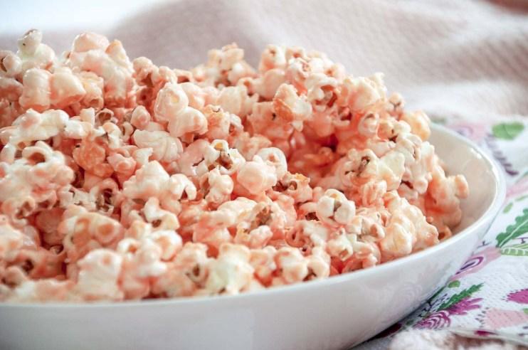 Roze popcorn kraamfeest