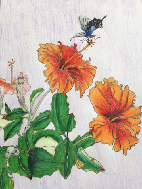 AYLUS_Art_Butterfly_and_Flower
