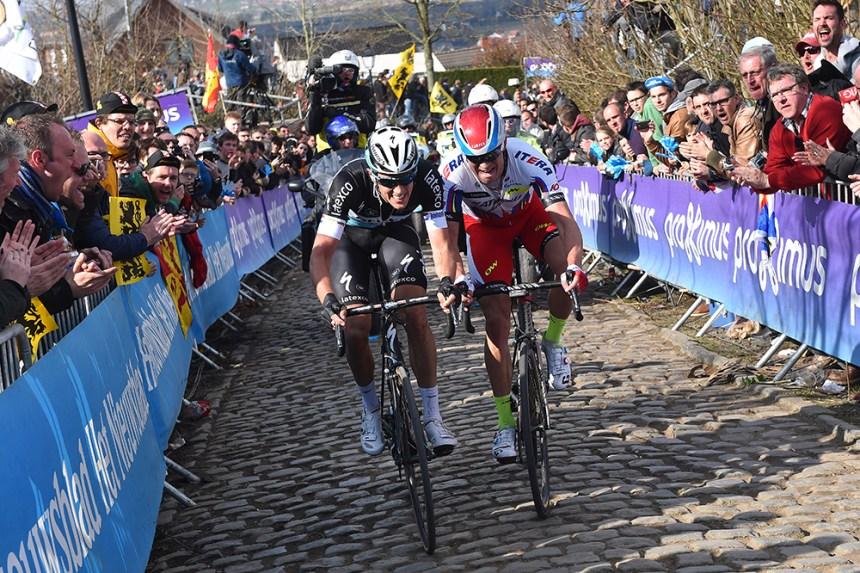 Cycling: 99th Tour of Flanders 2015 TERPSTRA Niki (NED)/ KRISTOFF Alexander (NOR)/ Oude Kwaremont / Brugge - Oudenaarde (264Km)/ Ronde van Vlaanderen Tour of Flanders RVV / © Tim De Waele