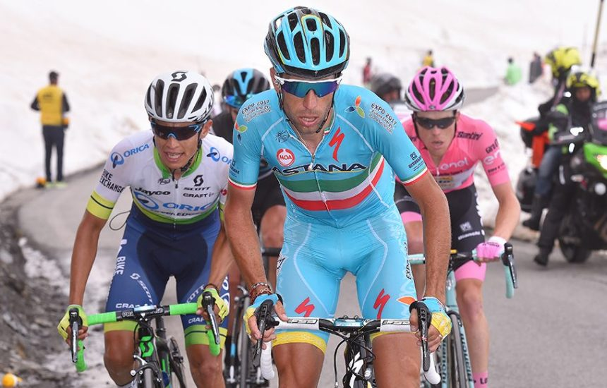 Estaban Chavez attacked on the slopes of Collle dell'Agnello drawing out Kruijswijk and Nibali. Photo: Tim De Waele   TDWsport.com