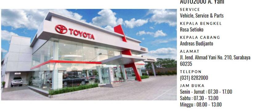 Dealer Toyota Auto2000 di Ahmad Yani, Surabaya