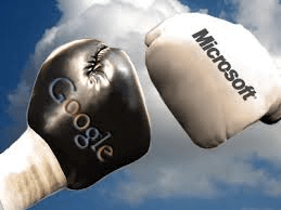 Google Micrsoft Amazon Cloud Battle