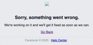 Facebook is down error