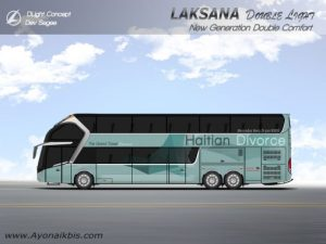 Desain bus Double Decker Laksana Dlight