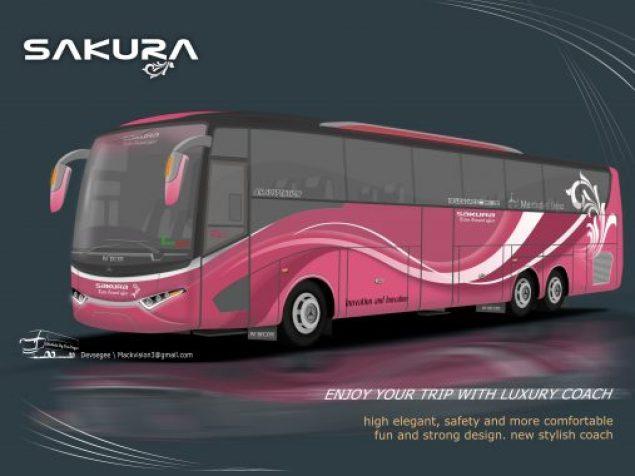 Desain bus sakura nbus