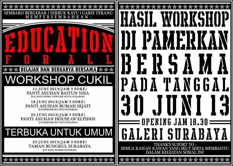 Education for All: Workshop Cukil - Ayorek Events
