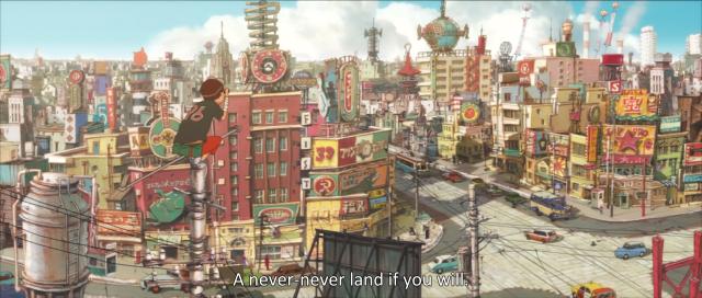 Tekkon Kinkreet. Selain anime, juga tersedia komiknya, karya Taiyou Matsumoto.