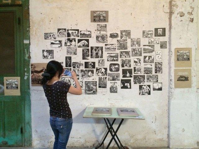 Pameran karya komik Redi Murti, Hidup Mati di Tanah Sengketa. Foto: Andriew Budiman