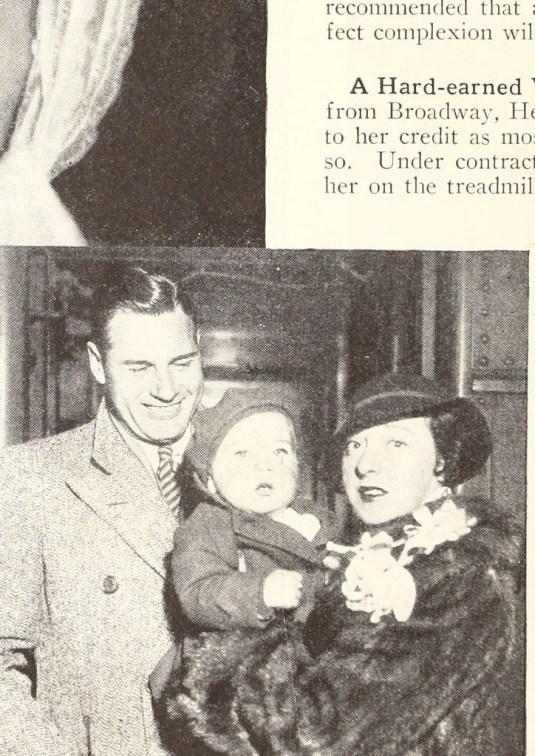 Jobyna with her son.