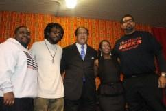 (L-R) LeVar Jones, Sam P.K. Collins, Dr. Ben Chavis, Nataki Kambon, and Big Baba Rob