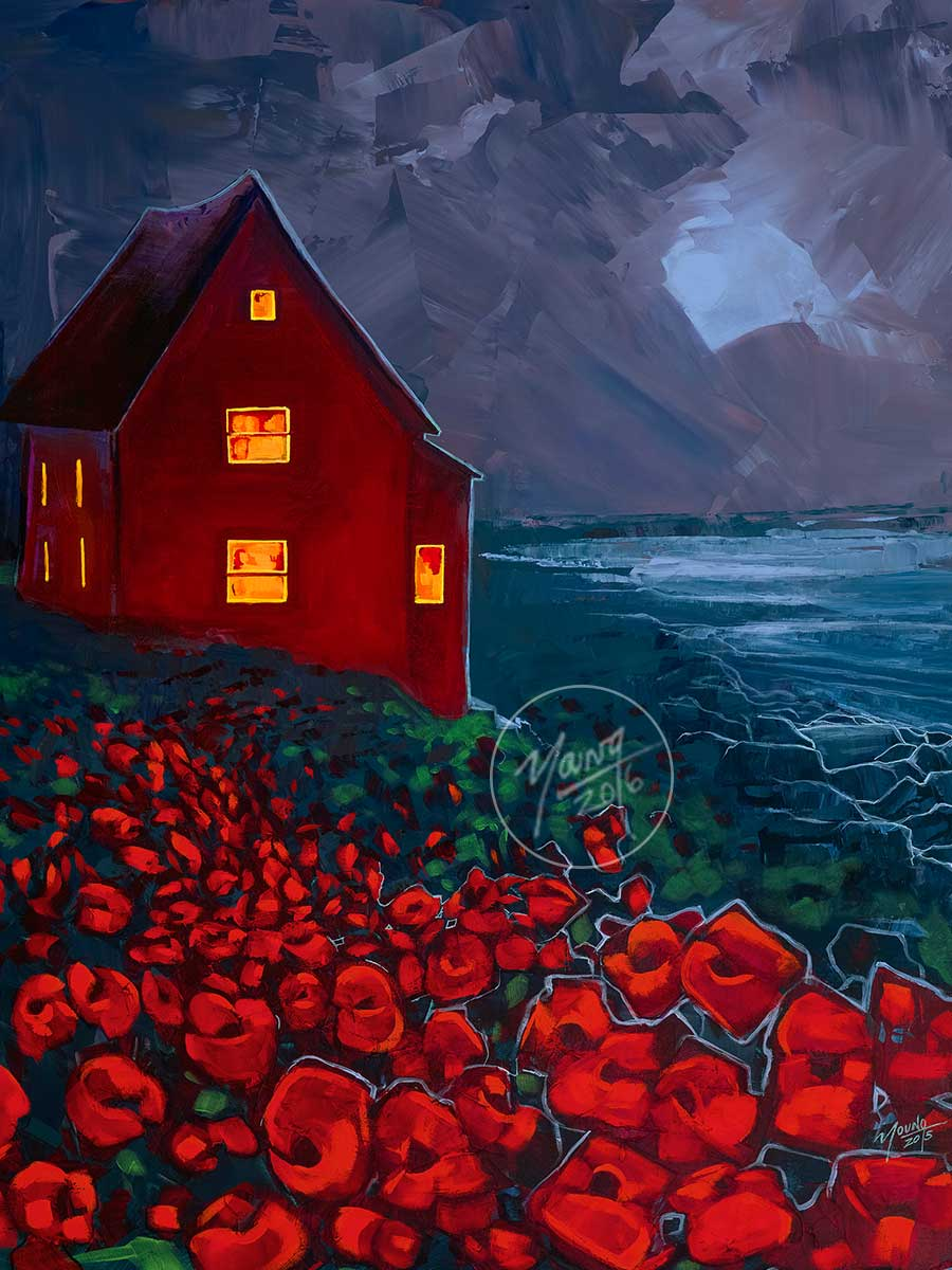 Angler Island Painting By Newfoundland Artist Adam Young
