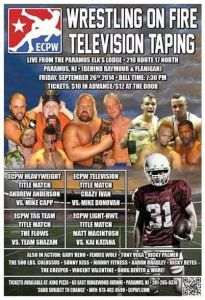 1flyer ECPW Wrestling On Fire TV Taping 9-26-14
