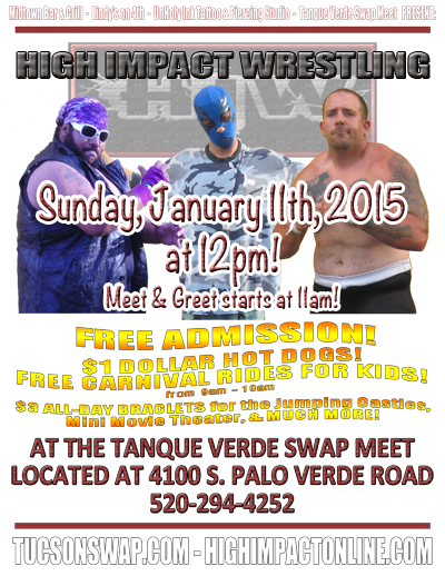 HIW TV Tapings - 01/11/2015 - Tucson, AZ