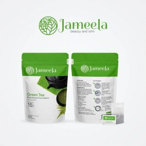 Jameela Green Tea Teh Hijau Diet Plangsing Alami \ Teabag