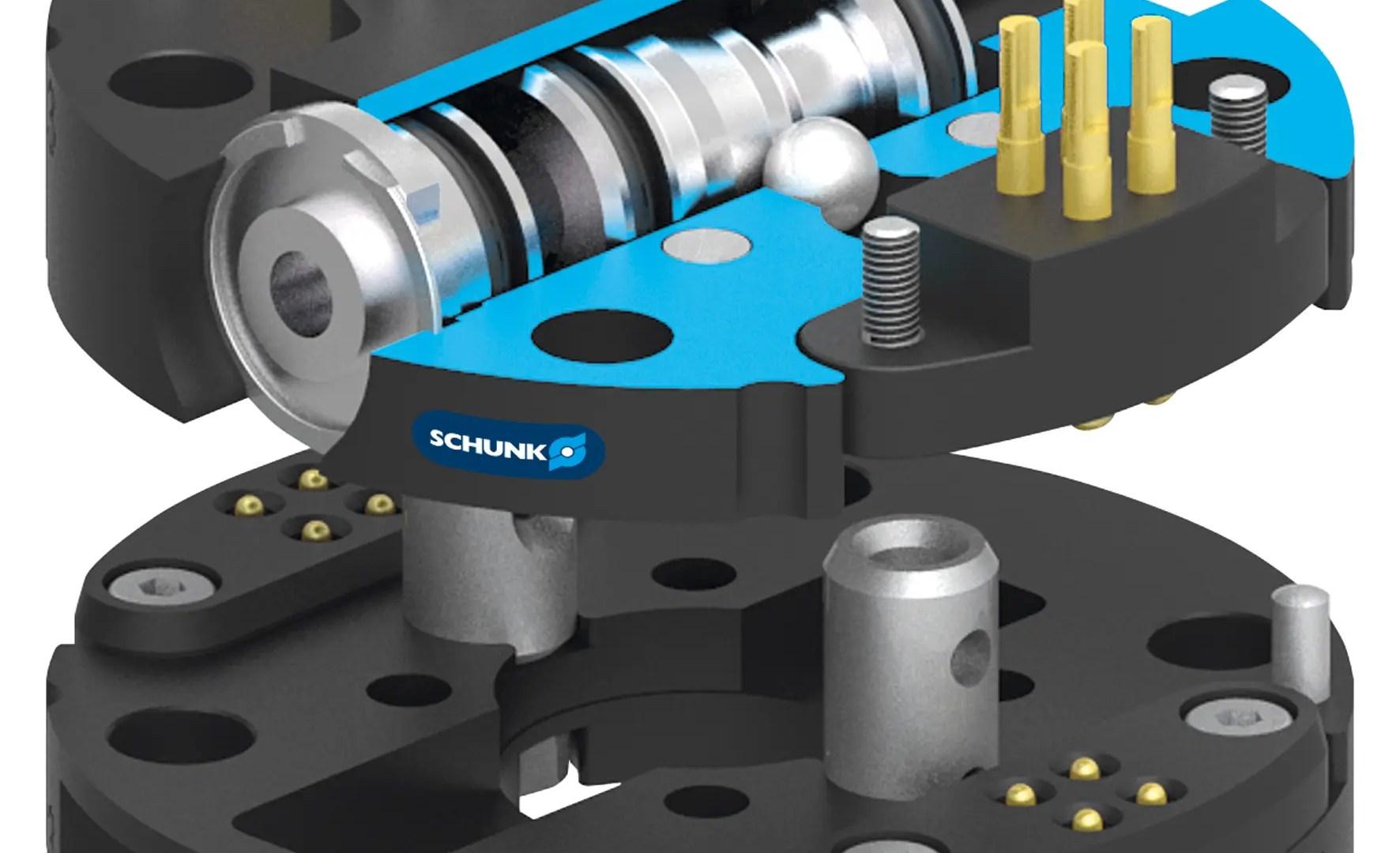 Sistema de cambio rápido automatizado para pequeños robots
