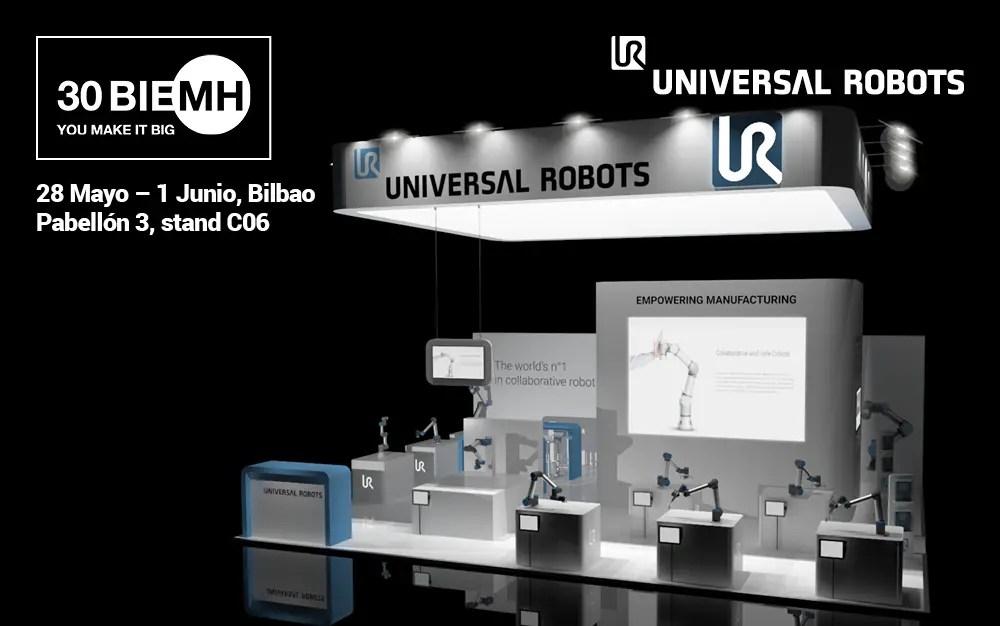 Universal Robots en acción en BIEMH 2018 como pionero de la nueva era de la automatización industrial