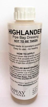 Gannaway Highlander Pipe Bag Dressing 250ml