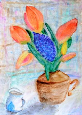 Natüürmort tulpidega