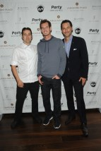 Chef David Vandenabeele, Andy Murray, and Robin Flanz