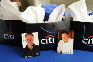 Parting gifts included signed autograph cards from Patrick McEnroe and Chef John Mooney