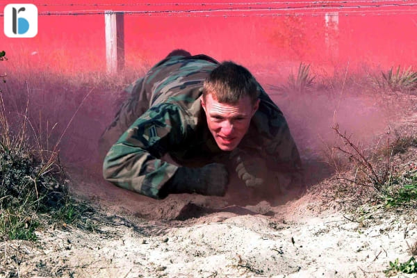 Soldier Crawling Sticking To Plan