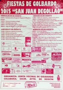 cartel fiestas de San Juan Degollao 2015