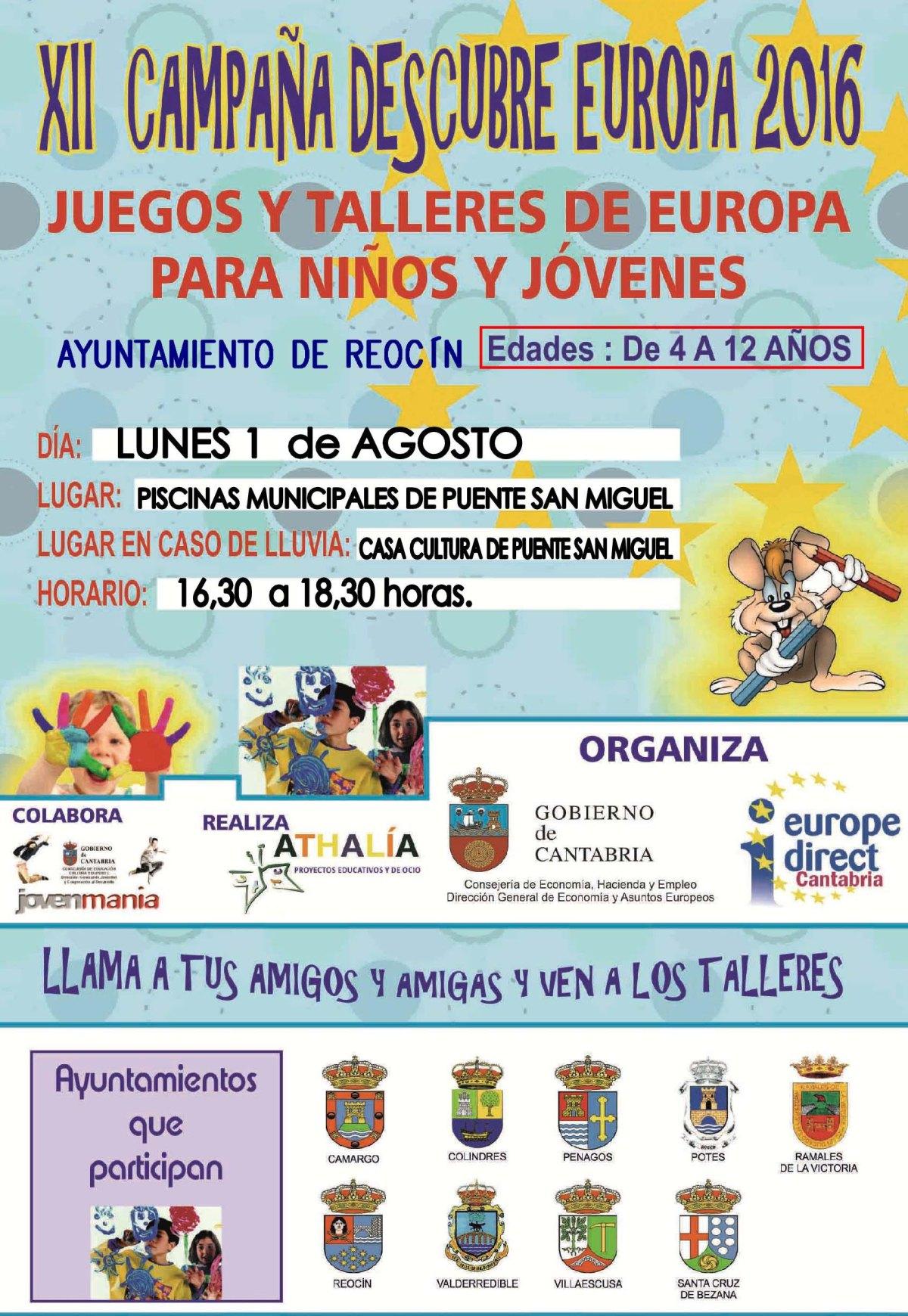 cartel campaña de animacion y divulgacion europea 1 agosto