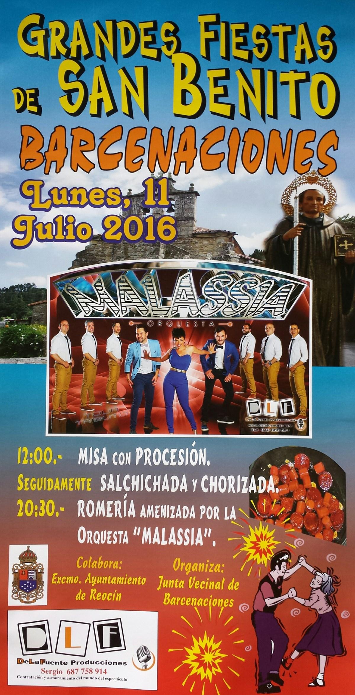 cartel fiestas de san benito 2016