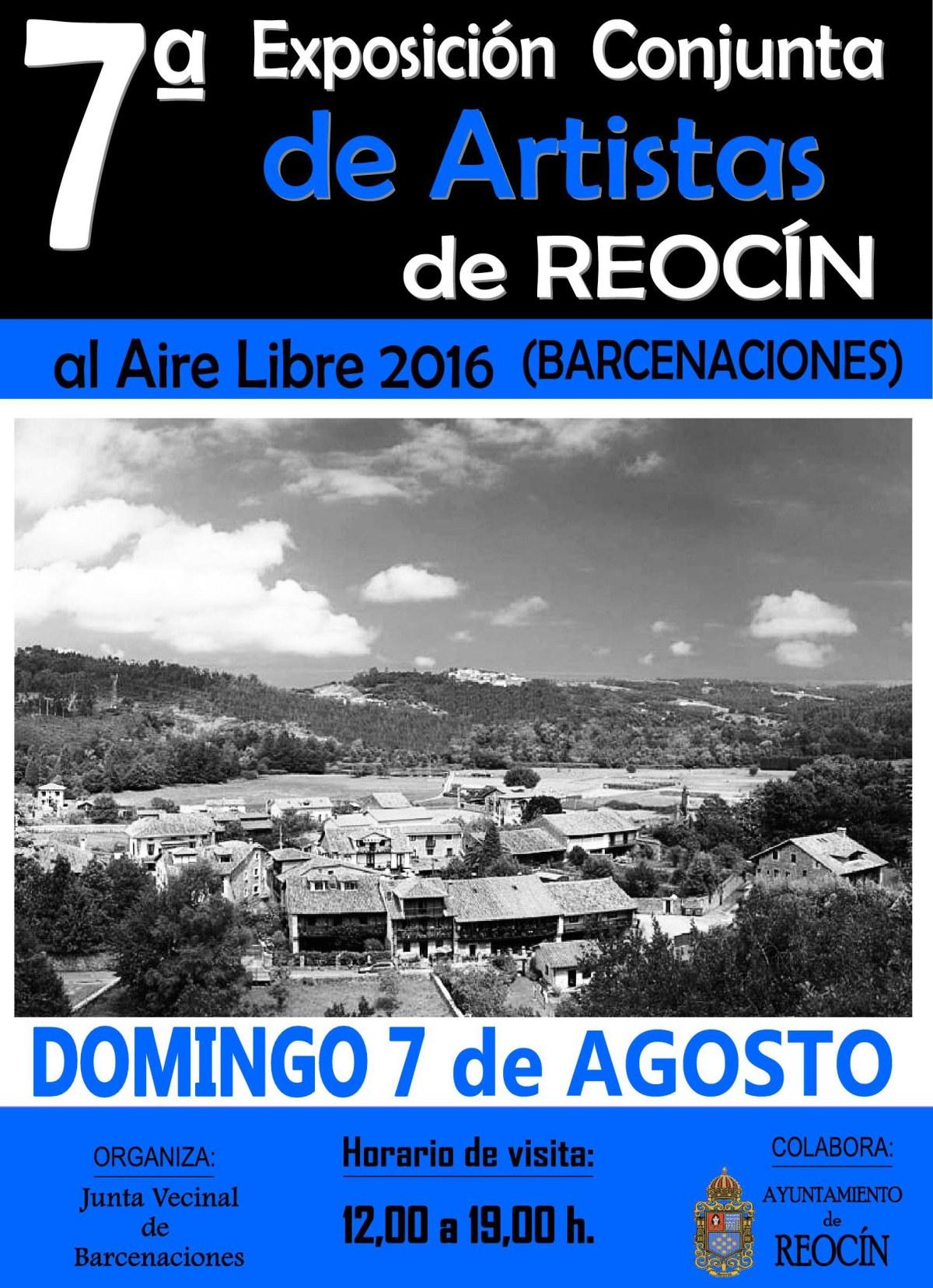 CARTEL 7ª EXPOSICION CONJUNTA DE ARTISTAS REOCIN 2016