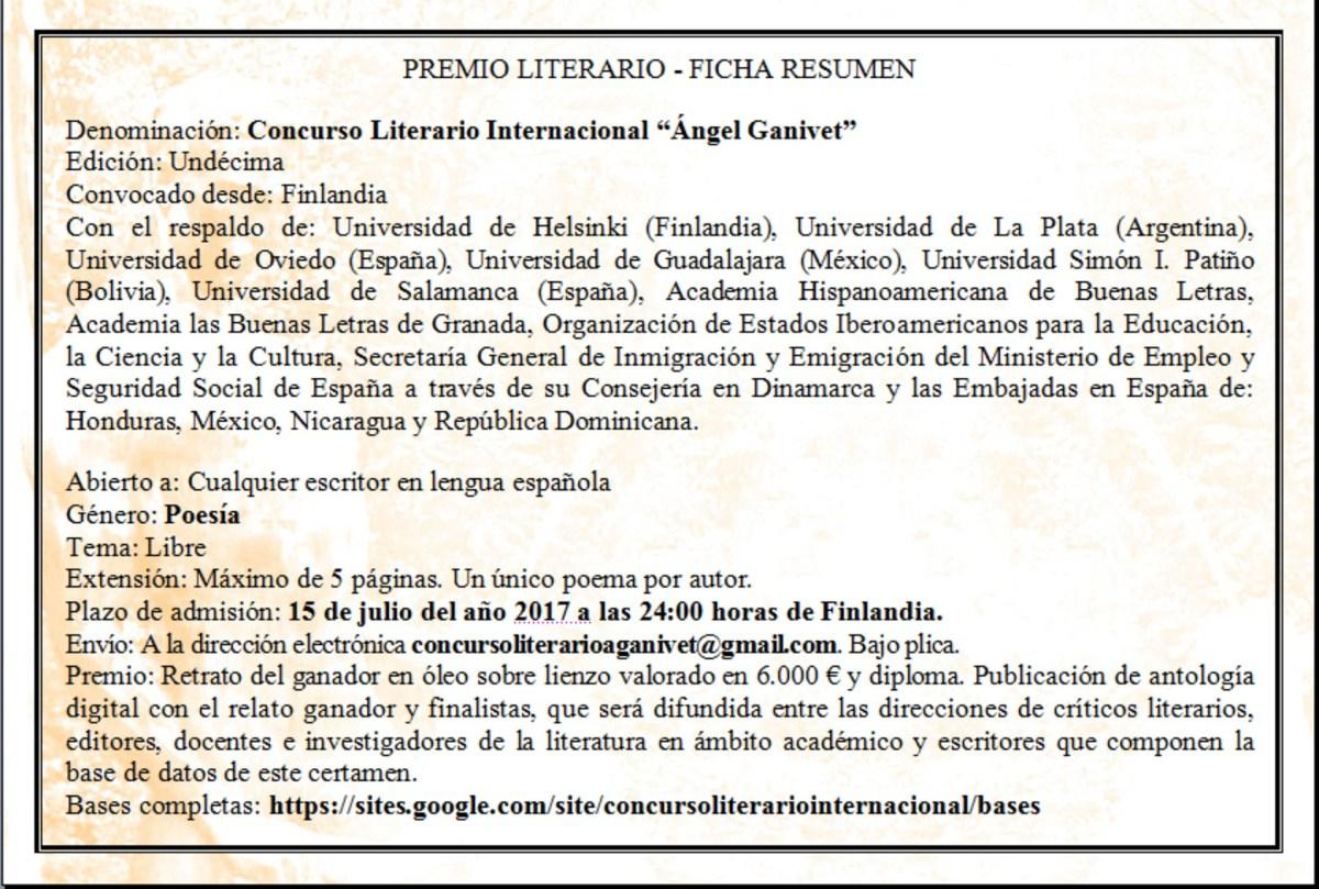 Concurso Ganivet_ Ficha Resumen Bases 2017