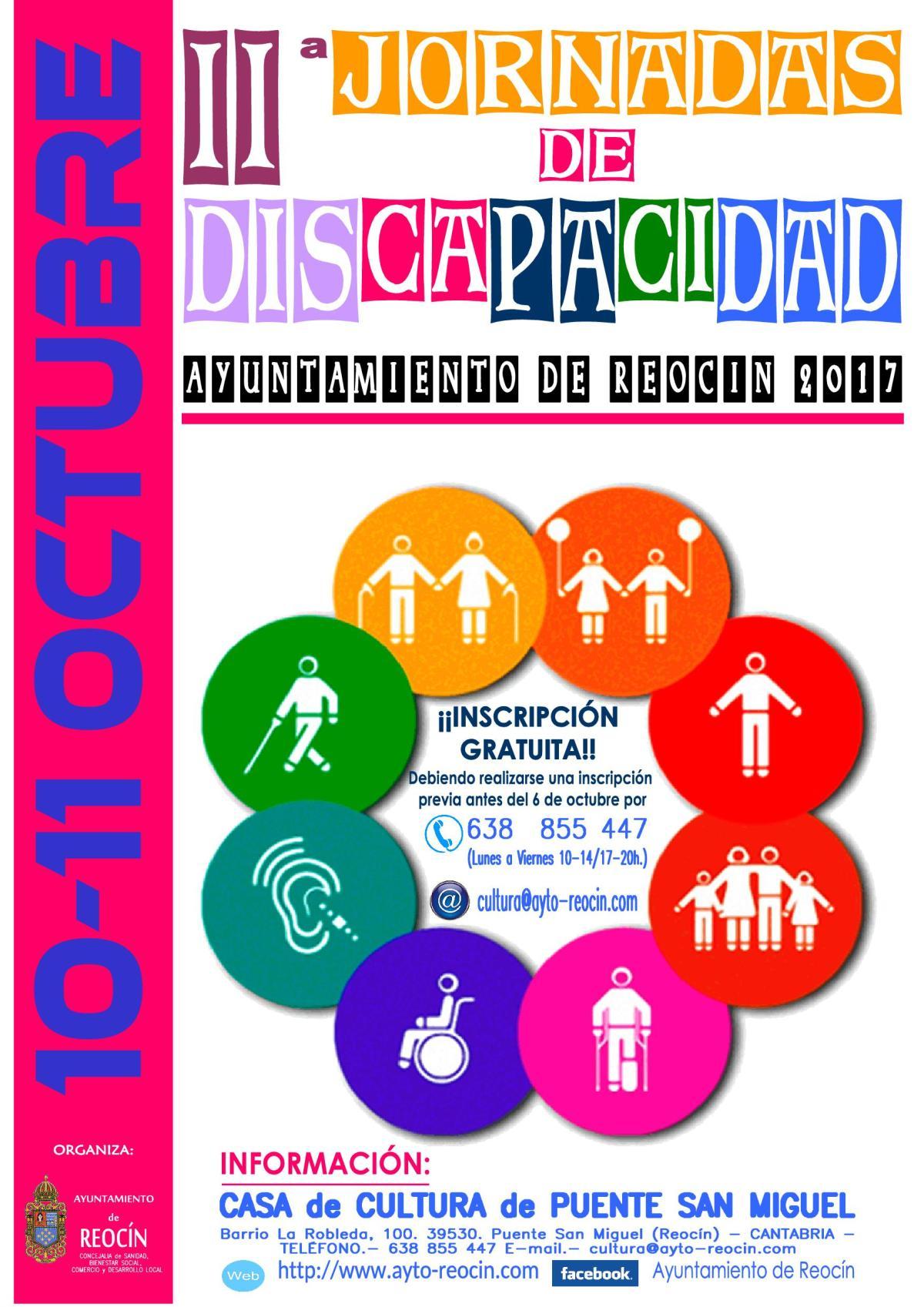 cartel JORNADAS DISCAPACIDAD 2017