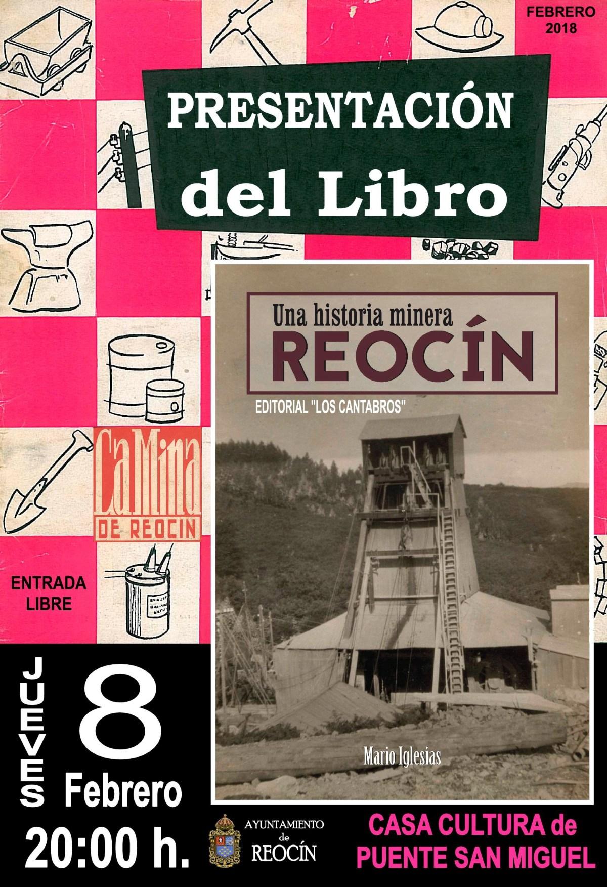CARTEL PRESENTACION LIBRO UNA HISTORIA MINERA REOCIN2018