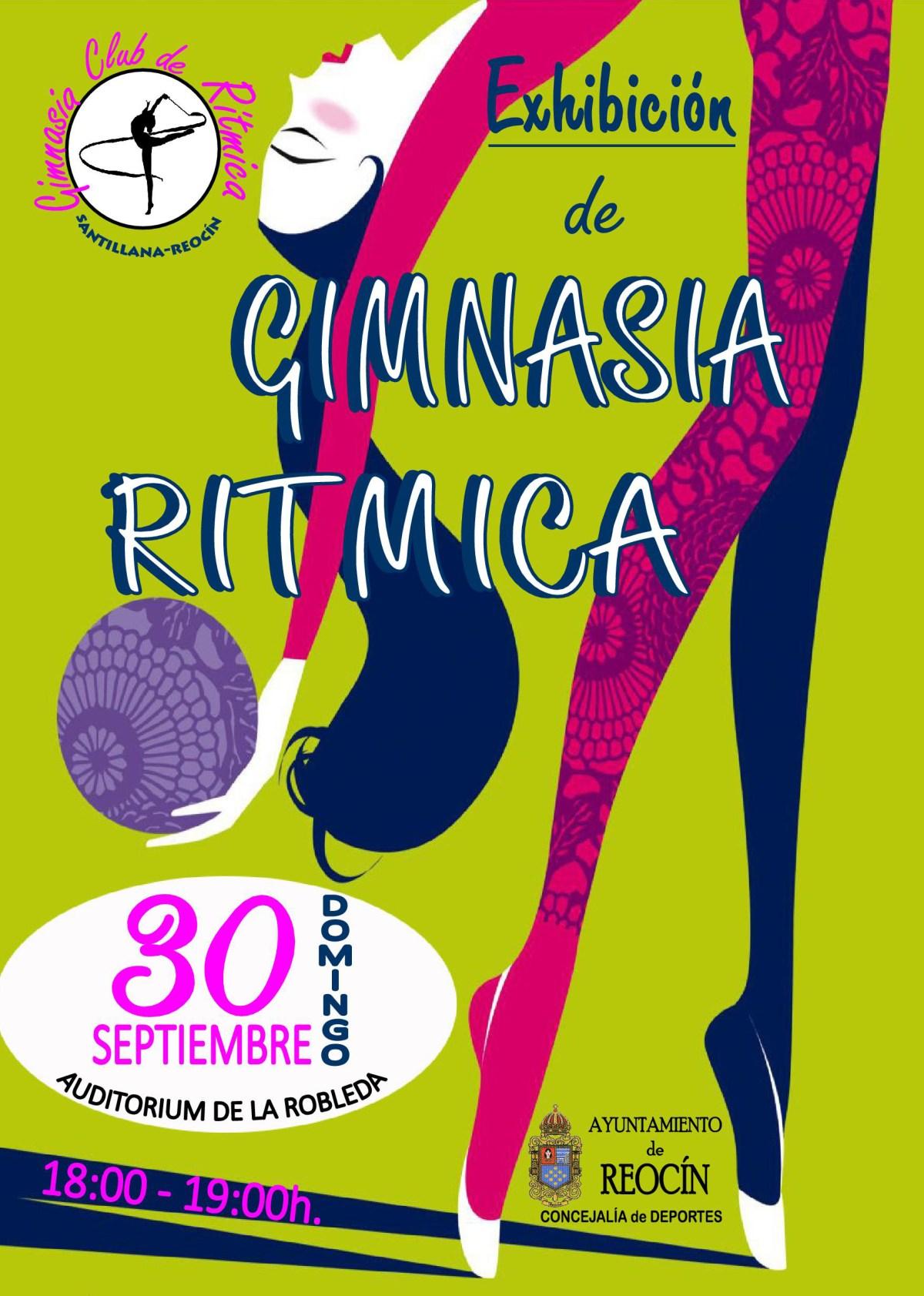 CARTEL EXHIBICION GIMNASIA RITMICA 30 SEPT2018
